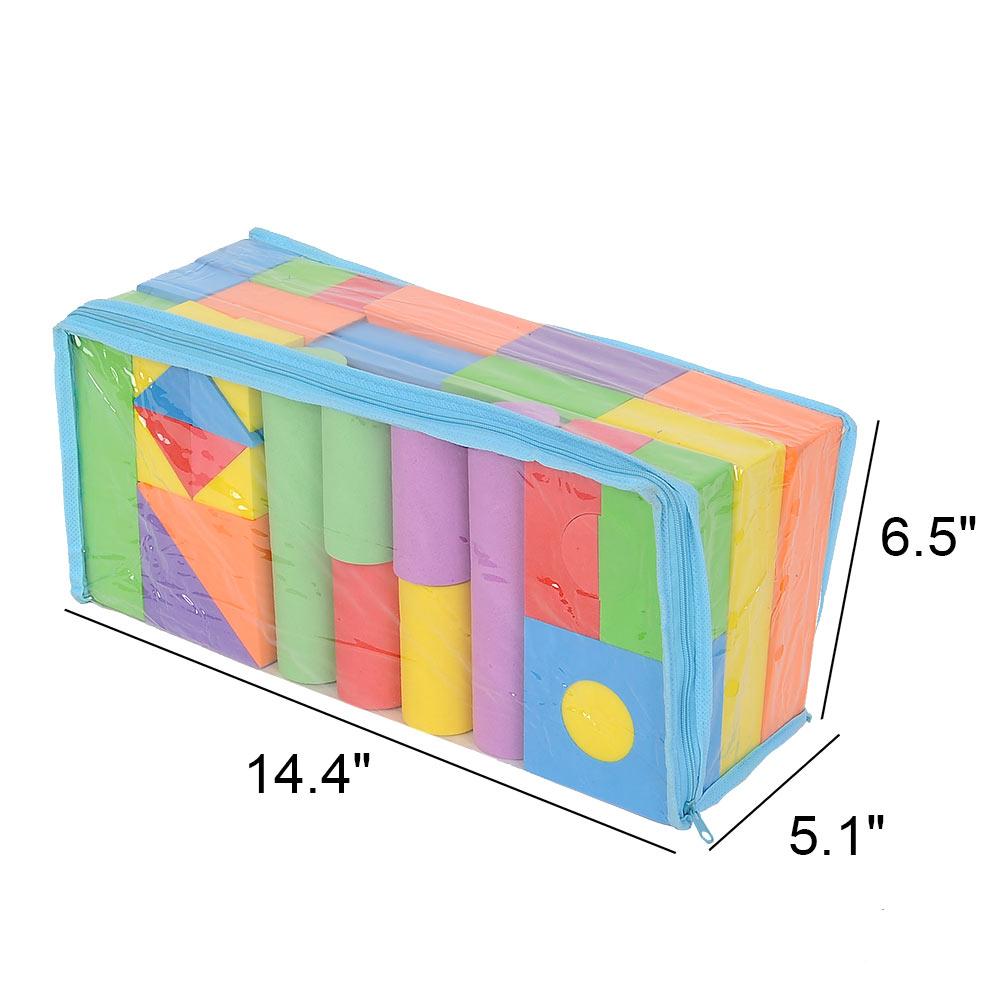 50 pieces foam building blocks set lazada malaysia for Foam block construction house plans